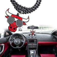 Rearview Mirror Hanging Charm Dangling Pendant - Chicago Bulls w/ Sunglasses