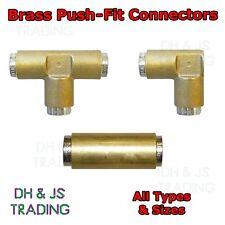 Brass Push Fit Connectors - Elbow Straight T Piece Coupling Push-Fit Fleetfit