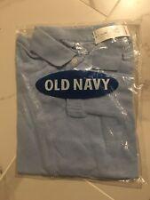 School Uniform Pique Blue Polo Shirt Short Sleeve Boys Size 6/7- Old Navy