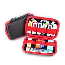 Rosso/Nero Portatile Valigetta Organizer piccolo, più chiavetta USB, schede di memoria