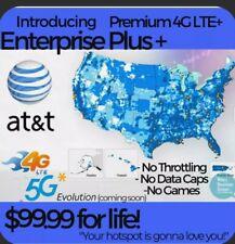 Att 4G Lte Unlimited Hotspot Data $99.99 Unthrottled No Caps Truly Unlimited Sim