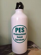 White Metal Water Bottle  - PES Professional Event Services MTG Magic Gathering
