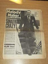 MELODY MAKER MAY 31 1975 FRANK SINATRA THE OSMONDS