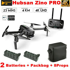 Hubsan Zino Pro 4.5KM Wifi FPV RC Drone W/4K Camera 3-Axis Gimbal+2Battery+Bag