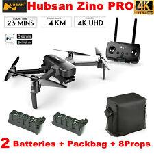 Hubsan Zino Pro 4.5KM Wifi FPV RC Drone W/4K Camera 3-Axis Gimbal+2Battery+Bag