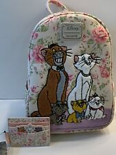 Loungefly Disney Aristocats Floral Mini Backpack And Matching Cardholder Set