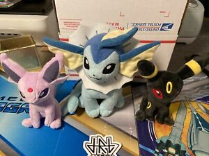 Pokemon Plush popular Eevee/eeveelution Pokemon Center 3 Piece Set TOMY Toys
