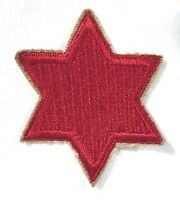 WWII U.S Army 6th Inf, Division Patch ORIGINAL Vintage WW2