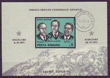 Briefmarken aus Rumänien mit Raumfahrt-Motiv