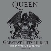 QUEEN THE PLATINUM COLLECTION 3CD SET (2011 Remastered) (Greatest Hits 1,2,3)