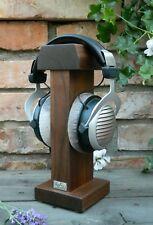 Headphone Stand Holder HeSy handmade from solid walnut wood