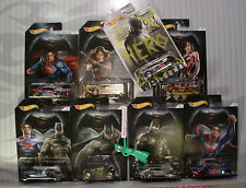 2016 Hot Wheels BATMAN v SUPERMAN☆Walmart 7 car set + Chase Overbored 454☆Gotham