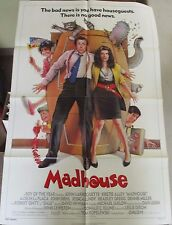 Vintage 1 sheet 27x41 Movie Poster Madhouse 1990 Kirstie Alley John Larroquette