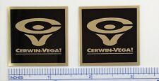 Cerwin Vega D3 Speaker Badge Logo Emblem Square CV Free Shipping