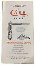 1976 Case Xx Knives Pamphlet - Proper Care