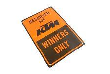 3PW1871800 KTM Blechschild Parking Schild Winners Only EXC Sx-f SX 1190