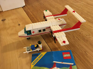 Lego City Town Set 6356 Med-Star Rescue Plane (1988).