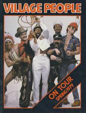 Village People 1979 Tour Concert Program Tour Book