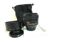 NIKON AFS 85mm 1:1.8G LENS with Carry Pouch & Manual - NIKKOR AFS 85 mm f/1.8 G
