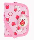 "Molang Cute Rabbit Pattern 2 layer Neck Wallet Purse Kids Gift Pink 3.5"" x 4.5"""
