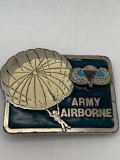 New listing Us Army Airborne Division Belt Buckle Partially Broke Buckle