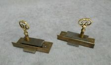 1960s vintage Pair French brass  Locks & keys