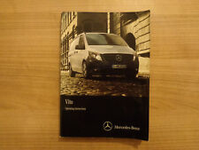 Mercedes Vito Owners Handbook Manual 14-18