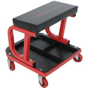 Neilsen Mechanic Creeper Mobile Work Chair Stool Storage Trolley Seat