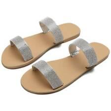 Sandals Open Ring Toe Ladies Shoes Women Rhinestone Bling Slippers Flip Flops