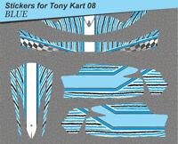Go-kart stickers, Tony Kart  08 Karting -adesivi, kleber- template