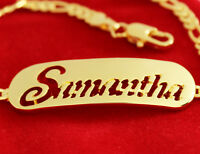 Gold Plated Name Bracelet - SAMANTHA - Mother's Day Valentine's Birthday for her