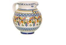 "Spanish Majolica Vino"" Pitcher - 6.50"" Tall Spain, ceramic, pottery"