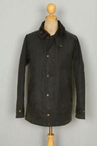 BARBOUR Transport WAXED Jacket Green Size Large