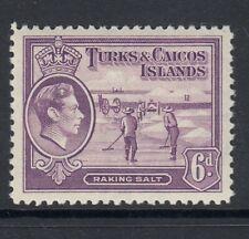TURKS & CAICOS ISLANDS STAMPS. SG201 - 6d mauve - Unmounted mint