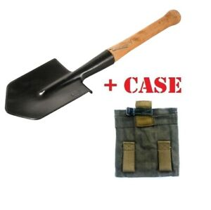Sapper spade small infantry steel shovel original russian army part + ussr case