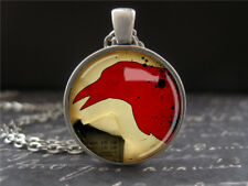 Red Crow Pendant Gothic Art Necklace Bird Jewelry Gifts for Teens Friend Girls