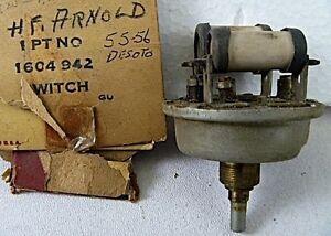 1955 1956 Desoto Fireflite Adventurer Pace Setter Coronado NOS MOPAR Htr Switch