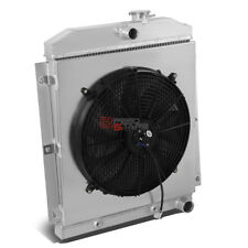 3-ROW FULL ALUMINUM RADIATOR+12V FAN SHROUD FOR 47-54 CHEVY 3100/3600/3800 I6