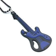 Fashion Charm Men's Girl  Guitar Pendant Drip Oil Alloy Pendant Necklace