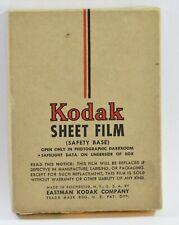 RARE 3-1/4 X 4-1/4 KODAK ORTHO-X SHEET FILM, 24 SH. SEALED BOX, EXP. 1947, AS-IS
