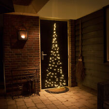 2.1M PRE LIT OUTDOOR 3D CHRISTMAS FAIRYBELL TREE DECORATION WARM WHITE LED LIGHT