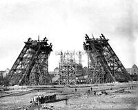 EIFFEL TOWER IN PARIS UNDER CONSTRUCTION, CIRCA 1889 - 8X10 PHOTO (CC648)