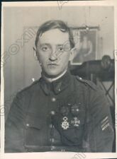 1920 US Army Brigadier General Charles Sweeney French Commission Press Photo