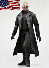 "1/6 Avengers Nick Fury Leather Coat Set For 12"" Hot Toys TTM21 Phicen Figure"