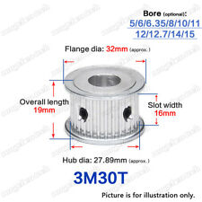 3M-30T Timing Pulley Idler without Bearing 3mm Pitch 5-15mm Bore for 15mm Belt