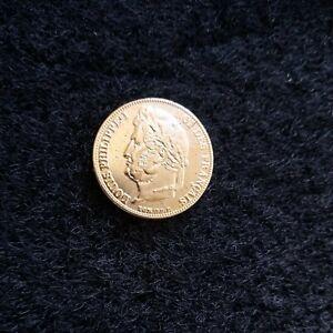 piece 20 francs or plaqué Louis Philippe 1835 A SUP...