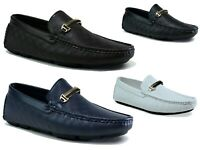 Moccasin-Slip On Driving Boat Shoes Casual Look Fashion Men Shoes UK Size 6-11