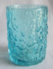 """Double Old Fashioned Glass Flat Tumbler Highball Zodax Riviera Teal Blue 4"""""""