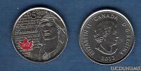 Canada Guerre de 1812 - 25 Cents 2012 Tecumseh Couleur Indien
