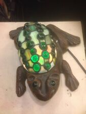Stained Glass Frog Lamp. Homemade Glass Frog Night Lite